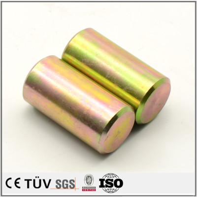 精密镀彩锌部品,车床加工,批量生产,高精密机械零件