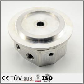 车铣复合5轴加工部品,A5052材质,白色氧化处理,高精密设备用