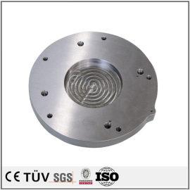 白钢材料高精密部品,无电解镀镍表面处理,滚花加工,高精密设备