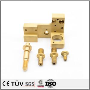 黄铜材质,高精密机械零件,来图制作,大连生产