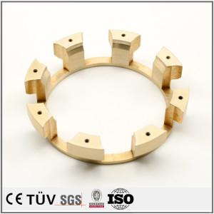 齿状高精密黄铜机械零件,数控车加工,钻孔加工,高精密设备