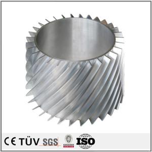 铝材质,斜齿轮精密加工,车床复合5轴加工,高精密部品