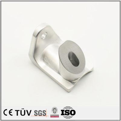 铝材质,局部淬火加工,白色阳极氧化处理等高精密部品