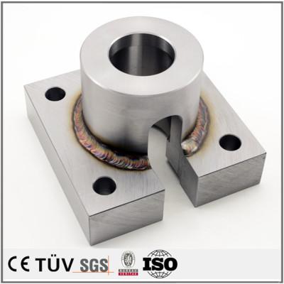 高精密钢材质焊接,车床加工,加工中心加工,无电解镀镍表面处理等工艺部品