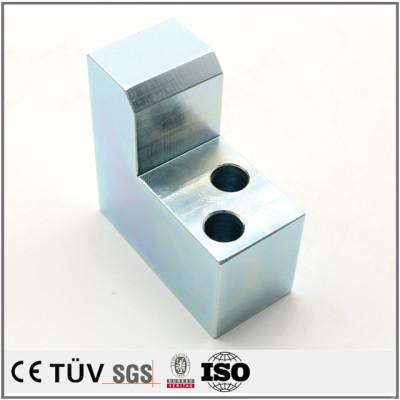 S45C材质,加工中心加工,激光切割,高精密蓝白锌表面处理等机械设备