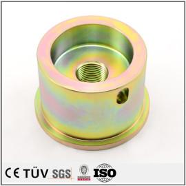 车床加工,碳钢材质,镀彩锌表面处理,批量生产加工