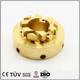 车铣复合5轴精密加工,黄铜材质,出口部品精密加工