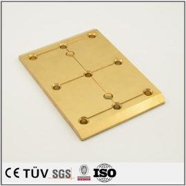 黄铜板状加工,加工中心加工,慢丝加工,高精密高平行度机械零件