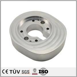 铝材质,车铣复合5轴加工,硬质镀鉻表面处理,高精密部品