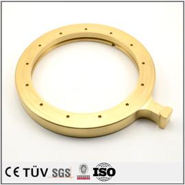 检查设备用机械零件,黄铜材质,车床加工,磨床研磨,高精密部品