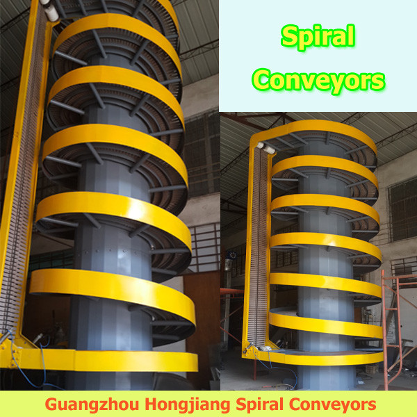 Flexible Chain Vertical lift spiral conveyor system design