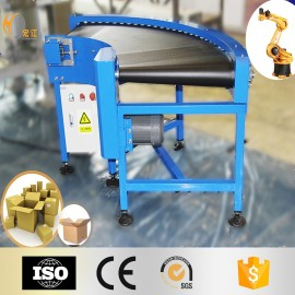 Trasportatore a nastro in PVC con curva a 90 gradi di alta qualità per linee di produzione