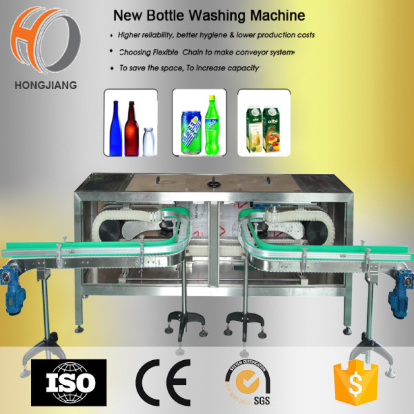 Automative industry glass bottle washing machine and conveyor