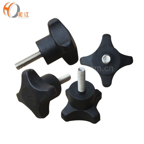 H185A Plastic adjustable threaded clamping star knobs