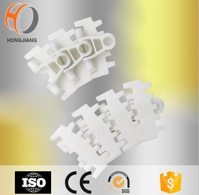 Línea de montaje de cadena transportadora de enlace de cadena de sistema modular flexible de plástico