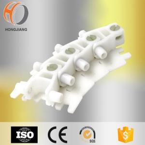 Plastic flexible modular system chain link conveyor belt assembly line