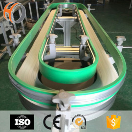 beverage & wine machine conveyor modular plastic belts conveying equipment  flexible transmission chains magnetic curves belting ring line