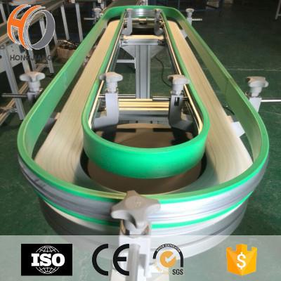 nastro trasportatore per macchine per bevande e vino nastri modulari in plastica per il trasporto di attrezzature catene di trasmissione flessibili curve magnetiche