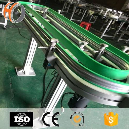 آلة المشروبات والنبيذ ناقل وحدات أحزمة بلاستيكية نقل معدات مرنة سلاسل نقل منحنيات مغناطيسية خط حلقة سيور