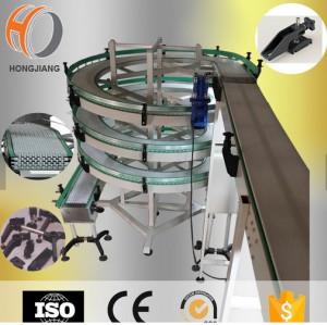 على شكل حلزوني تصميم الناقل الأفقية انحدر المصعد معدات نقل وحدات أحزمة بلاستيكية سلاسل الفريزر
