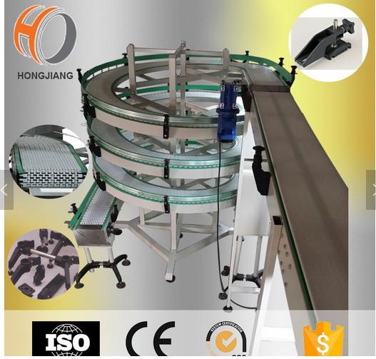 Transportador alpino en forma de espiral transportador vertical de la inclinación del diseño del equipo transportador modular cinturones plásticos cadenas congelador