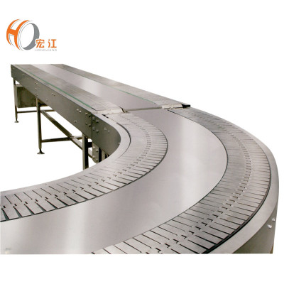 double channel 90 degree plastic stainless steel curved table top chain conveyors table top chain conveyor manufacturers