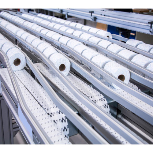 The Plastic Flexing chain conveyors transfer cigarette boxes tissue and packs
