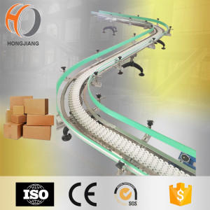 Factory material handling equipment, S shape Chain conveyor system for carton transfer
