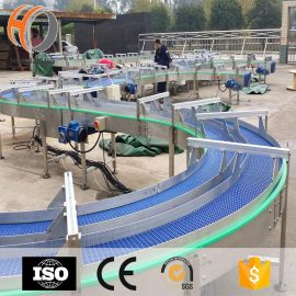 OEM custom Non-standard plastic modular belt conveyor for egg tray, carton, box transmission
