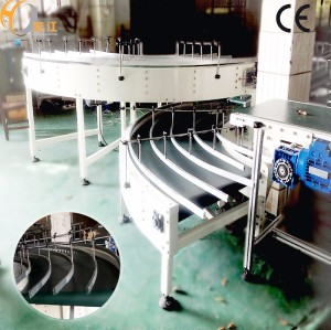 90 degree Curve Belt conveyor with CE certificate for tissue production line PU PVC belt rubber conveyor