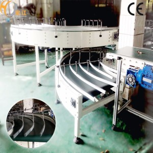 Transporte de correia da curva de 90 graus com certificado do CE para a linha de produção do tecido correia transportadora de borracha da correia do PVC do plutônio