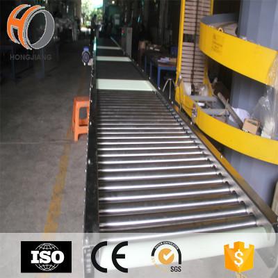 النقل مستقيم تشغيل ناقل الأسطوانة الفولاذ المقاوم للصدأ ناقل الجاذبية لكارتون أو نقل البضائع