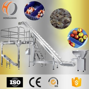 Food grade adjustable height belt elevator Conveyor Lift