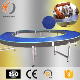 270 degree round modular belt conveyor for robot