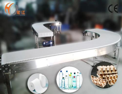 270 degree round modular belt conveyor for robot