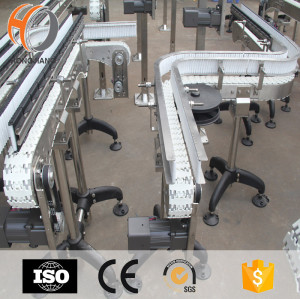 anti-corrosion PP flexible chain flat top conveyor belt systems for battery transmission
