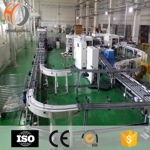 Plastic moudular belt conveyor for tissue transimission health paper factory PVC PU POM belt conveyor systems