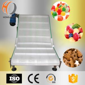 Mini H5936 flat top modular belts with hole small vertical belt conveyor system