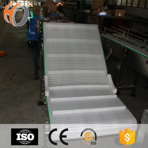 Mini H5936 cinturones modulares de plataforma plana con orificio pequeño sistema de cinta transportadora vertical