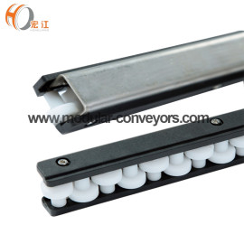 H128-47 U1 type conveyor single row roll ball straight running guides