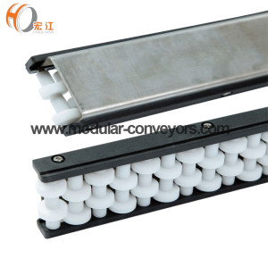 Transportador de aço inoxidável do módulo do divisor H128-73 U2 com o guia lateral running do rolo