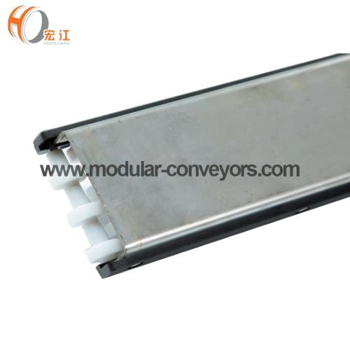 مكونات الناقل H128-99 U3 البلاستيك POM الفولاذ غير القابل للصدأ الأدلة الجانبية 99mm