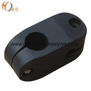 H174 A plastic double pipe quick cross clamps for round pipes
