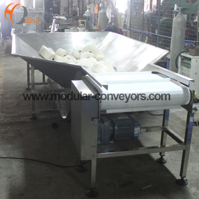 plastic modular belt elevator inclined conveyor for Spinning ball transmission