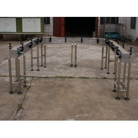 Uni 880 882 flat top curved plastic chain conveyor