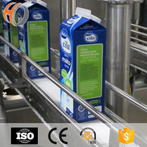 H1775 البلاستيك الجدول الأعلى صفر الفجوة منحني حليب مربع سلسلة ناقل لشراب الخصم