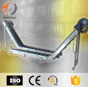Z type Inclined Modular Belt lift Conveyor for transfering