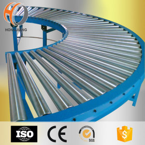 Transmission Curve gravity roller conveyor