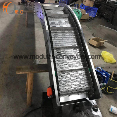 food grade stainless steel chain mesh conveyor