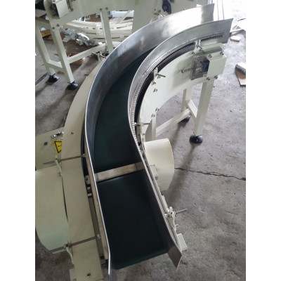PVC  PU 90 degree curve belt conveyor